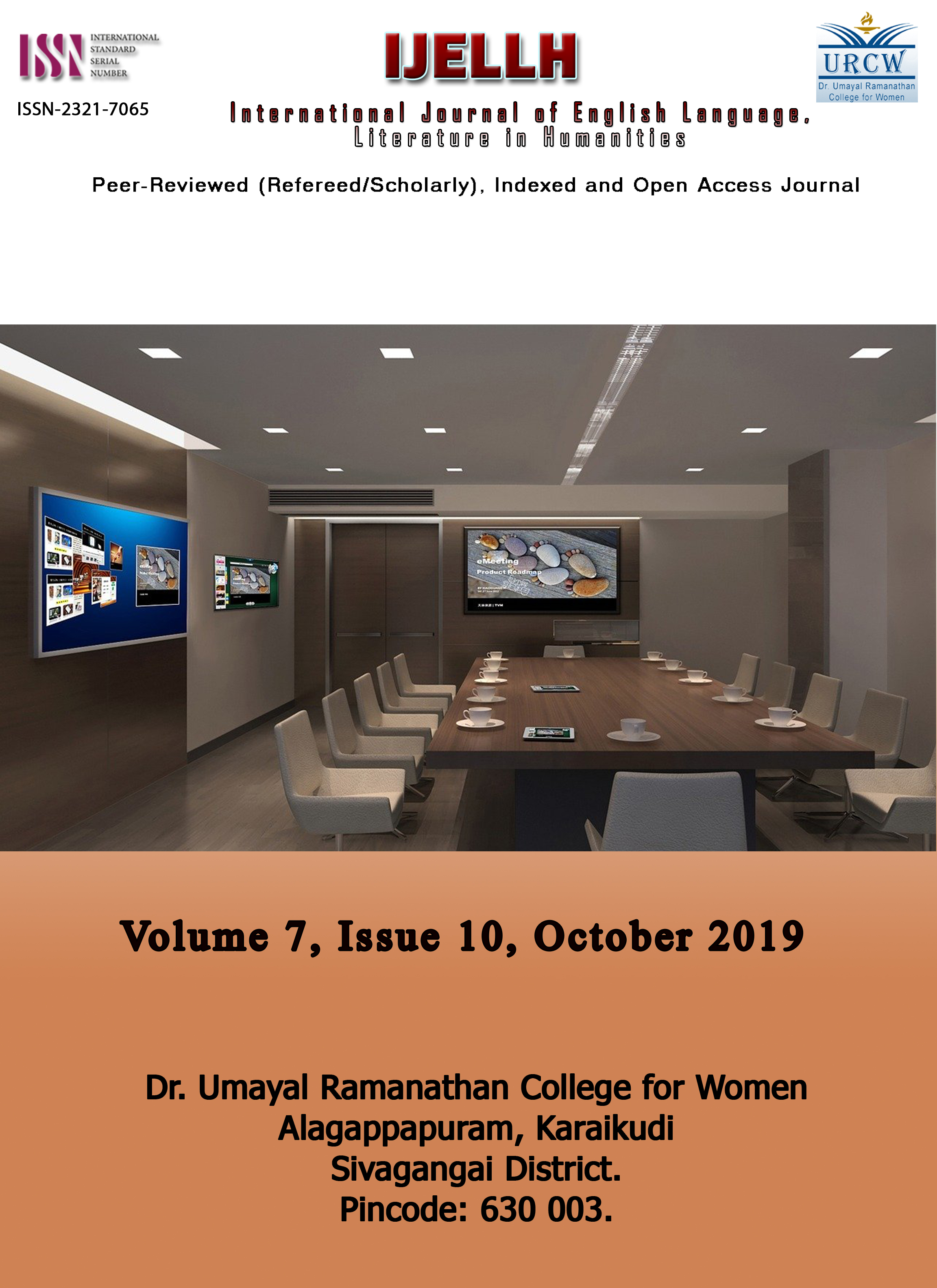 View Vol. 7 No. 10 (2019): Conference Paper Publication : Volume 7, Issue 10, October 2019