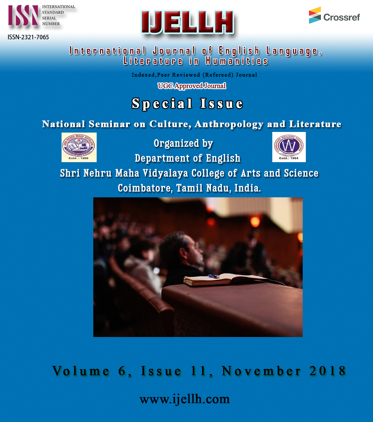 View Vol. 6 No. 11 (2018): Special Issue Volume 6, Issue 11, November 2018