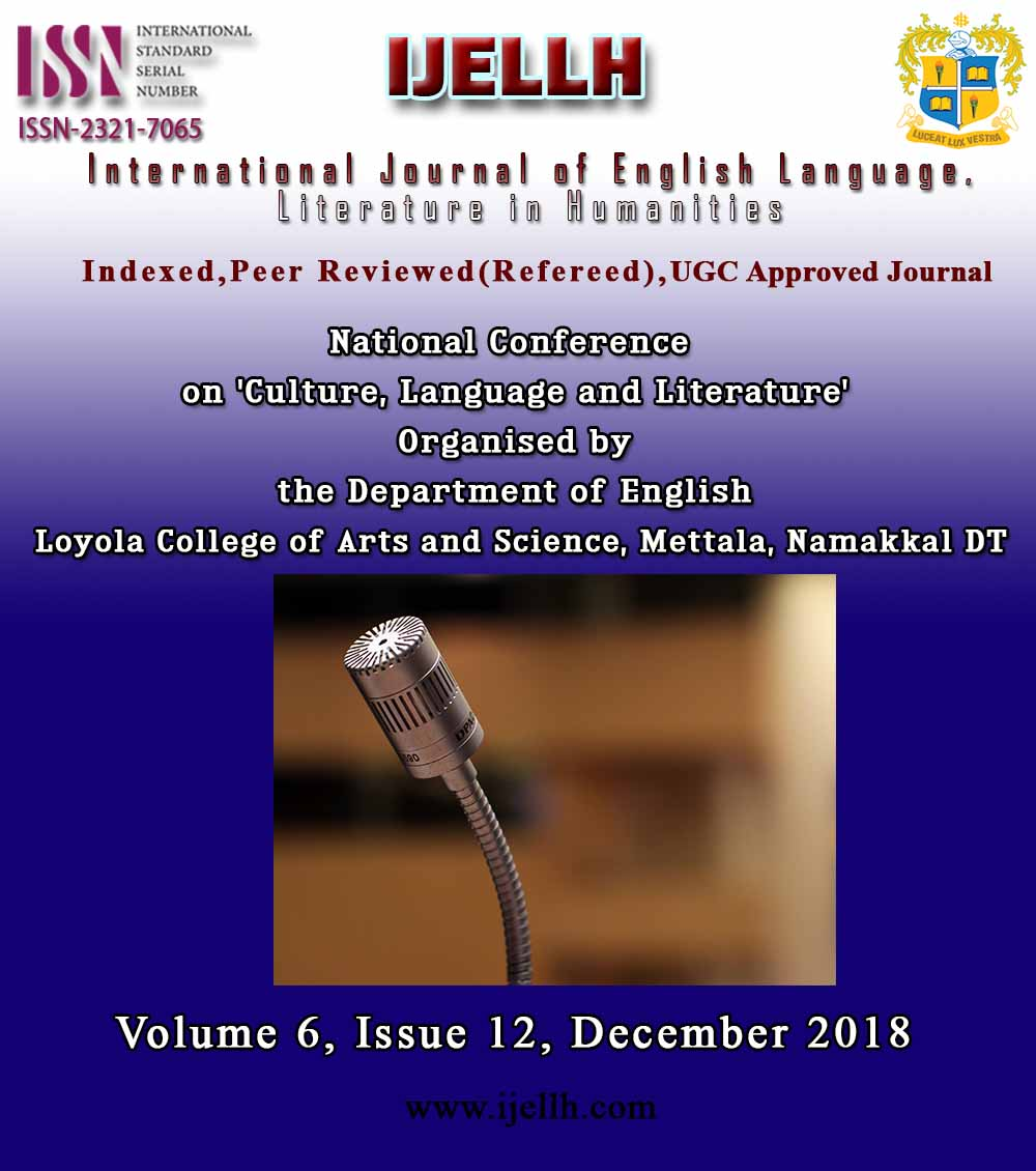 View Vol. 6 No. 12 (2018): National Conference   on 'Culture, Language and Literature'