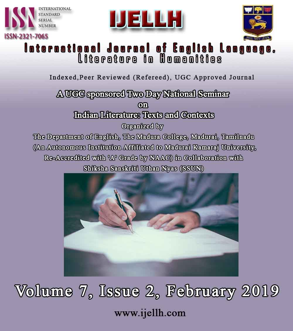 View Vol. 7 No. 2 (2019): Indian Literature: Texts and Contexts : Volume 7, Issue 2, February 2019