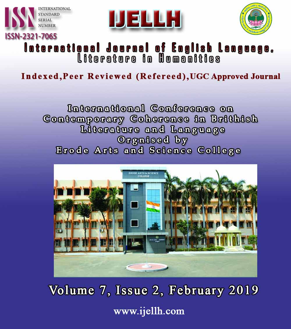 View Vol. 7 No. 2 (2019): Special Issue (VOLUME - II) Contemporary Coherence in Brithish  Literature and Language