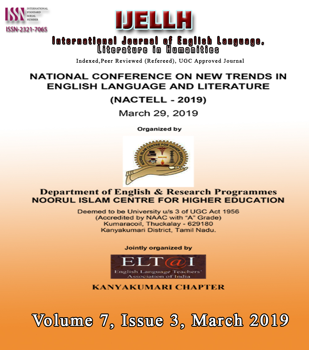 View Vol. 7 No. 3 (2019): National Conference on New trends in English language and literature
