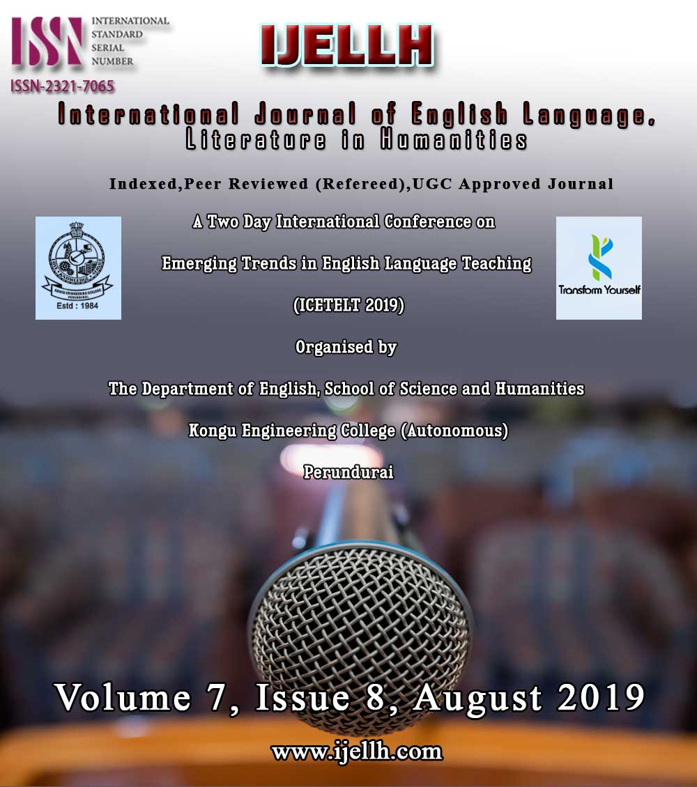 View Vol. 7 No. 8 (2019): Emerging Trends in English Language Teaching (ICETELT 2019) Volume 2